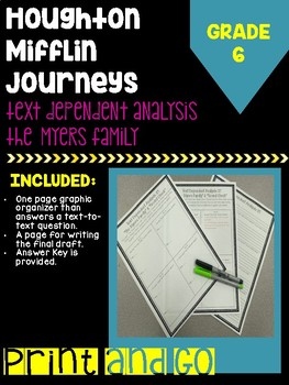 "HM Journey's Grade ""The Myers Family"" & ""Sound Check"" TDA/Essay"