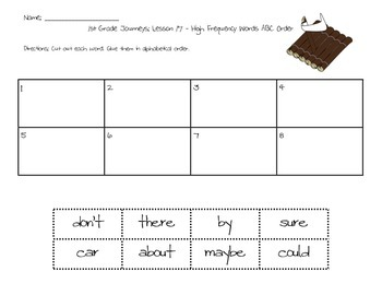 HM Journeys 1st Grade: Unit 2: Lesson 17: High Frequency Words Activities