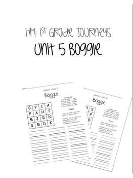 HM Journeys 1st Grade: Unit 5 Spelling Word Boggle