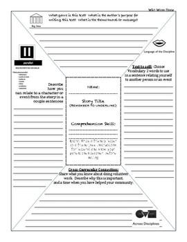 HM Journeys 4th grade depth complexity GATE icon frame week 1- Winn Dixie