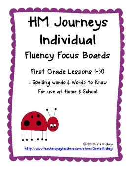 HM Journeys First Grade Fluency Focus Boards