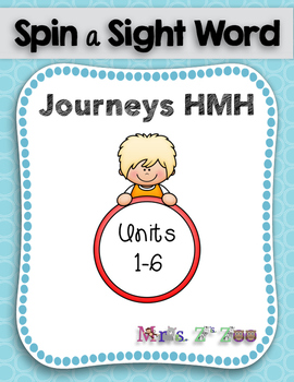 HM Journeys Sight Word Practice Kindergarten Unit 1-6. Spi