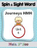 HM Journeys Sight Word Practice Kindergarten Unit 4. Spin