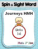HM Journeys Sight Word Practice Kindergarten Unit 5. Spin