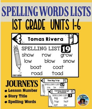 HM Journeys – Spelling Lists {First Grade}