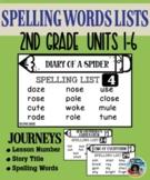 Journeys – Spelling Lists Grade 2
