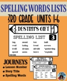 Journeys – Spelling Words Card Set - Grade 3