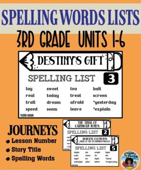 Journeys – Spelling Words Card Set - Grade 3