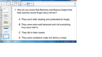 HM Journeys Third Grade Reading, Ramona Quimby Lesson Smart board, Test prep
