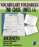 Journeys - Vocabulary Words Foldables {Second Grade}
