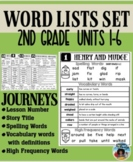 Journeys  Second Grade Word Lists for Stories 1-30