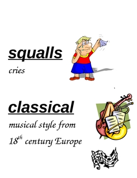HM Sing to the Stars Vocabulary Cards