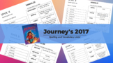 HM Spelling and Vocabulary Lists Journey's 2017 *WHOLE YEAR*