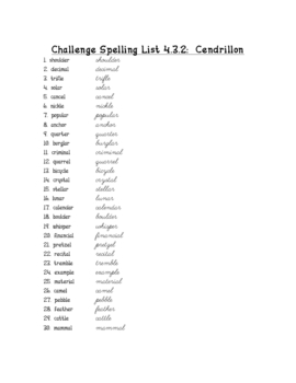 HM theme 3 spelling lists