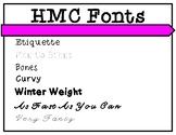 HMC Fonts Volume 1