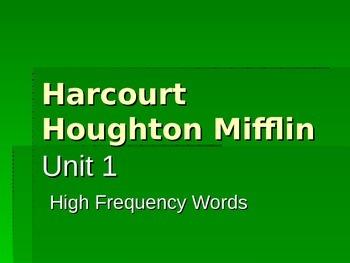 HMH 1st Grade Journeys 2014 Unit 1 Sight Words Powerpoint