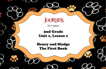HMH 2017 National Journeys 2nd Grade Lesson 1 Henry and Mudge