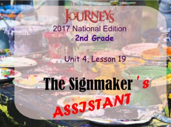 HMH 2017 National Journeys 2nd Grade Lesson 19 The Signmaker's Assistant