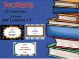 HMH 2017 National Journeys 2nd Grade Unit 1: Lessons 1-3 SMARTBoard Lessons