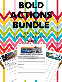 """HMH 7th Grade Collection 1 """"Bold Actions"""" BUNDLE"""