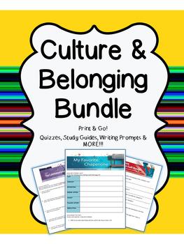 "HMH 8th Grade Collection 1 ""Culture & Belonging"" BUNDLE"
