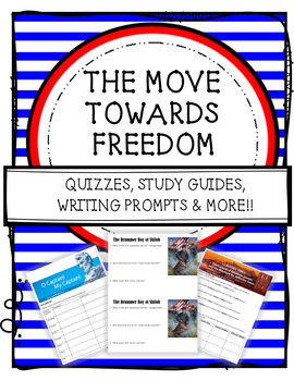 """HMH 8th Grade Collection 3 """"The Move Towards Freedom"""" BUNDLE"""