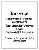 HMH CCSS Journeys 3rd Grade Constructed Response Questions {TDA}