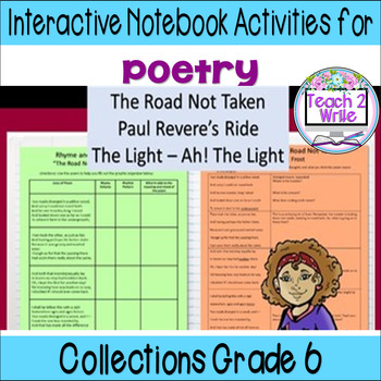 HMH Collections Grade 6 Collection 5 Poetry Interactive Notebook Activities