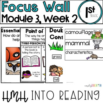 HMH Into Reading   1st Grade   Focus Wall Posters Module 3, Week 2
