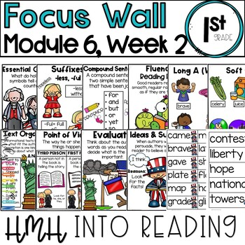 HMH Into Reading | 1st Grade | Focus Wall Posters Module 6, Week 2