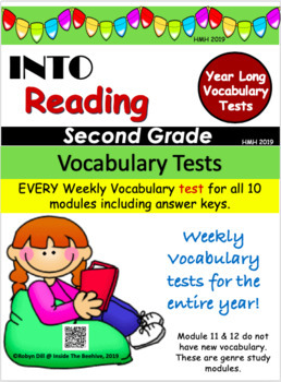 HMH Into Reading 2019 Year Long Vocabulary Tests