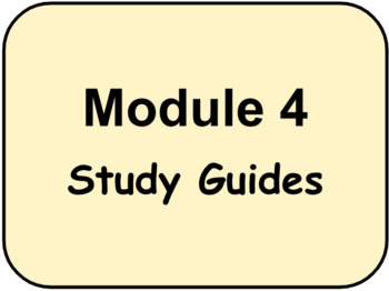 HMH - Into Reading - 3rd Grade -  Module Four STUDY GUIDES