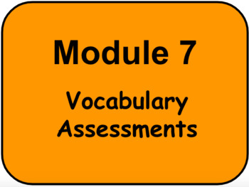 HMH - Into Reading - 3rd Grade -  Module Seven VOCABULARY ASSESSMENTS