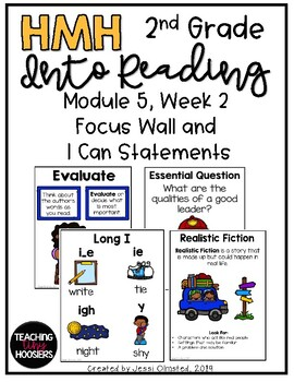 HMH Into Reading Module 5, Week 2 Focus Wall and I Can Statements - 2nd Grade