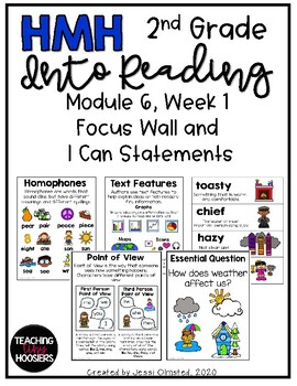 HMH Into Reading Module 6, Week 1 Focus Wall and I Can Statements - 2nd Grade