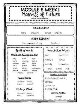 HMH Into Reading Series Grade 4 Module 6 Topic Focus Sheets