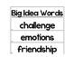HMH Into Reading Texas 1st Grade Big Idea Words 2019-20