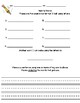 HMH Into Reading Texas 1st Grade Making Words Recording Sheet and Directions
