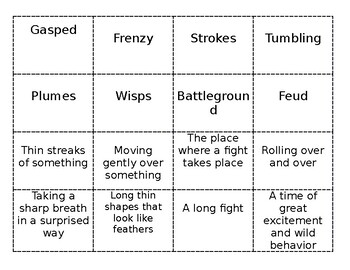 HMH Into Reading - The Great Fuzz Frenzy Vocabulary Memory Game