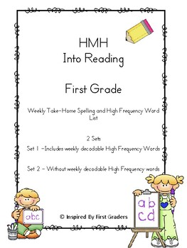 HMH Into Reading Weekly Spelling and High Frequency Words