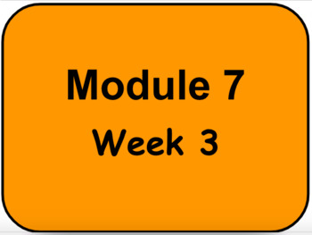 HMH - Into to Reading - 3rd Grade - Module 7 - Week 3 Vocabulary