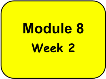 HMH - Into to Reading - 3rd Grade - Module 8 - Week 2 Vocabulary