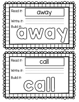 HMH Journey's 1st Grade - Unit 2 Sight Word Build Its/Play Doh Mat