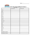 HMH Journey's Third Grade Spelling Words (template for pra