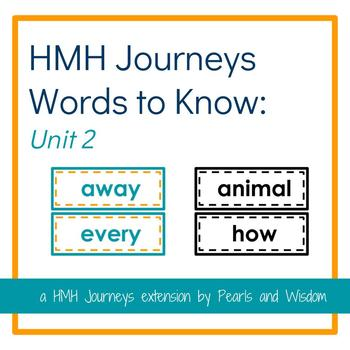 HMH Journeys 1st Grade - Words to Know - Unit 2