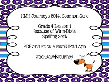 HMH Journeys 2014 Common Core Lesson 1 Because of Winn-Dixie