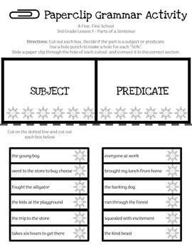 HMH Journeys 3rd Grade Paperclip Grammar Bundle