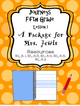 Journeys A Package for Mrs. Jewls Resources, Fifth Grade