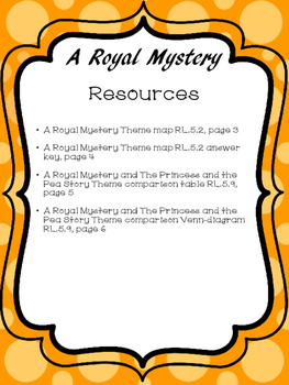 Journeys A Royal Mystery Resources, Fifth Grade