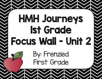 HMH Journeys First Grade Focus Wall - Unit 2